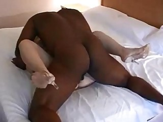 Black Blonde Big Cock Creampie Homemade Housewife Interracial Mammy