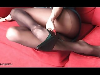 Awesome Black Foot Fetish Juicy Luxury MILF Nylon Panties